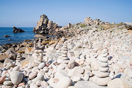 锡利群岛圣阿格尼丝海滩上的鹅卵石图片