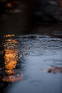 水中的波纹图片