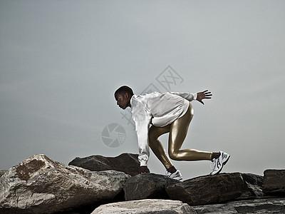 跑步的运动员图片