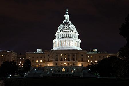 美国晚上的国会大厦图片
