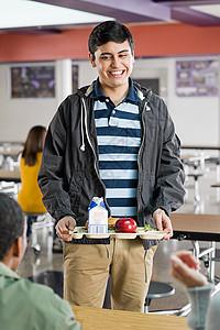 吃午餐的青年图片