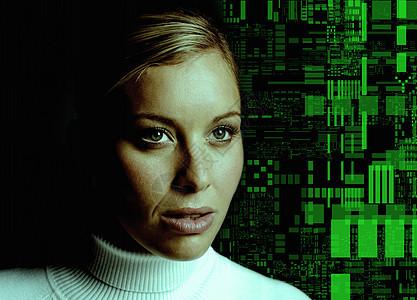 女性与现代科技图片