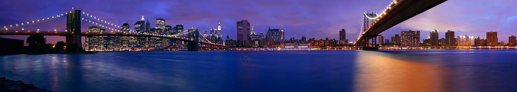 纽约市夜景图片