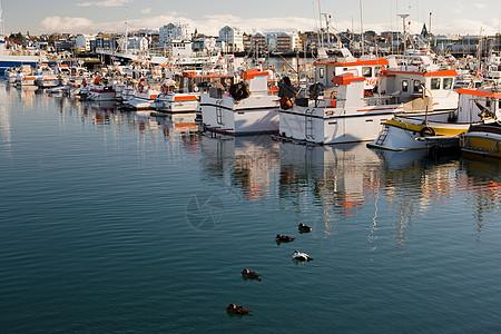 雷克雅未克附近的渔船图片
