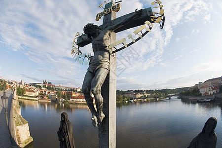 布拉格查尔斯桥雕像图片
