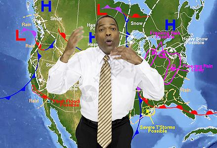 天气预报员图片