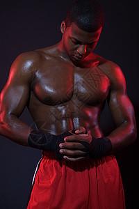 拳击手的肖像图片