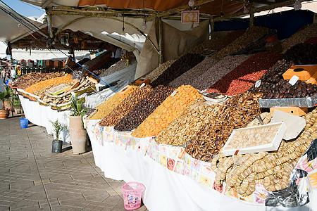 摩洛哥马拉喀市场摊位图片