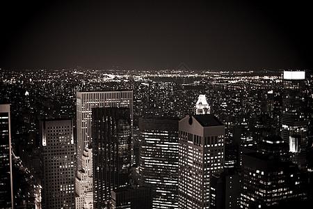 曼哈顿市中心的晚上图片