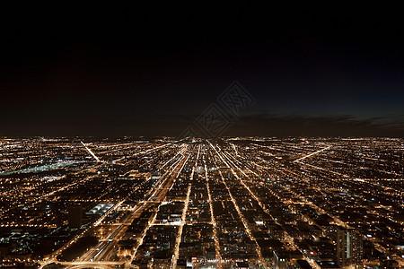 美国伊利诺伊州芝加哥夜景图片