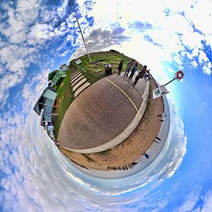 在海边的人360全景图片