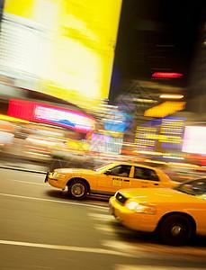 美国纽约市出租车运行中图片