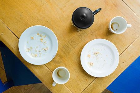 早餐桌俯视图图片