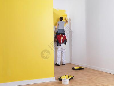 情侣刷墙图片
