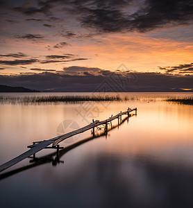 日落码头图片