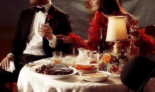 正式的晚餐图片