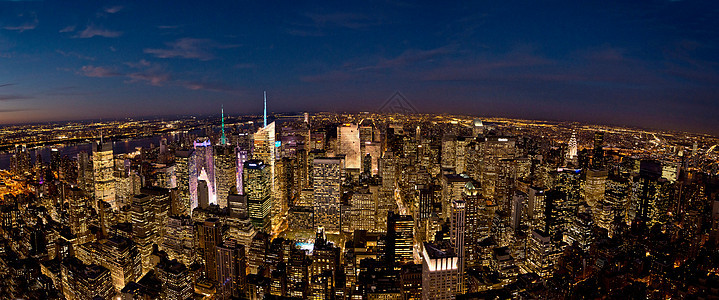 美国纽约曼哈顿帝国大厦全景图片