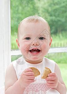 婴儿微笑图片