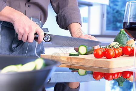 单手切菜图片
