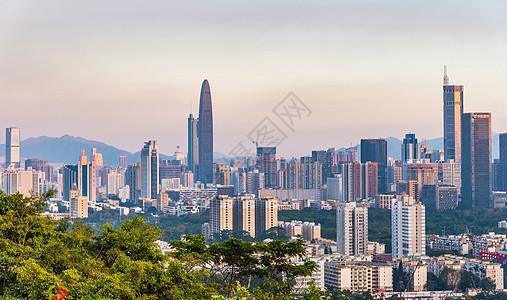 深圳莲花山顶城市风光图片