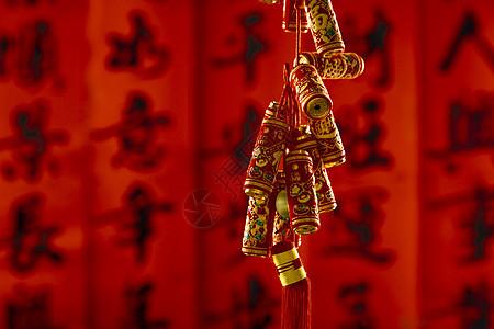 新年爆竹挂件图片