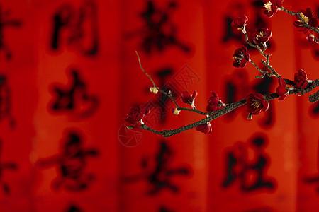 新年梅花背景图片