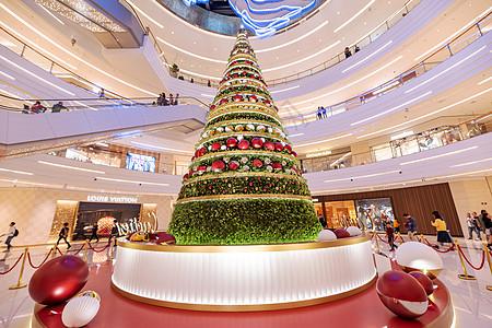 商场里的圣诞树图片