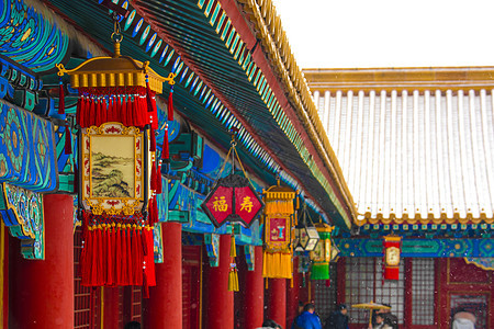 北京故宫灯笼图片