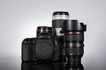 数码单反相机和大三元镜头图片