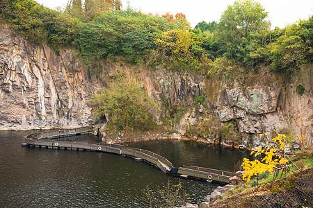上海辰山植物园深坑花园图片