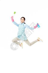 家政服务女性清洁玻璃图片
