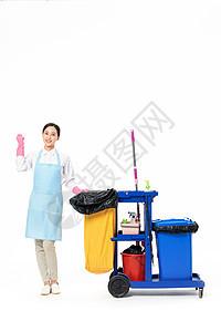 保洁员运送垃圾图片
