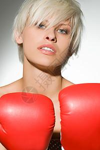女拳击手画像图片