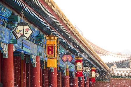故宫春节宫灯图片
