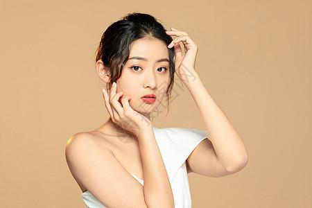 美女美白保养护肤图片