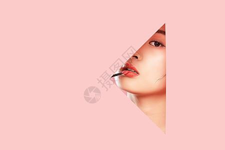 创意女性局部妆容美妆图片