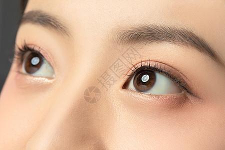 女性眼睛局部细节特写图片