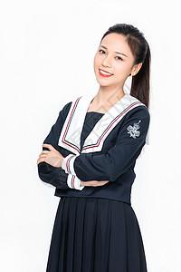 成人教育美女大学生jk制服形象图片