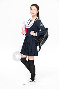 成人教育美女大学生形象图片