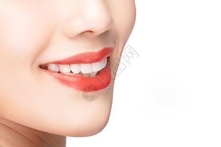 女性嘴唇口腔牙齿健康图片