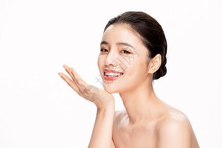 美女美容保养面部护理图片