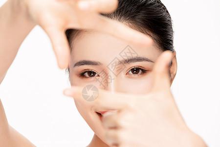 美女眼睛局部特写图片