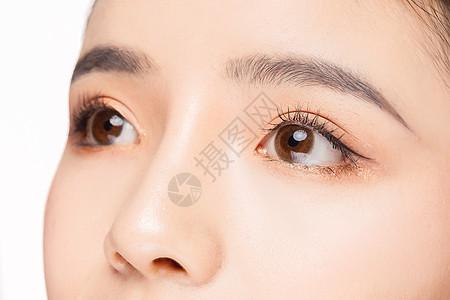 女性眼睛眉毛眼部双眼细节特写图片
