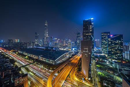 夜景深圳平安大厦图片