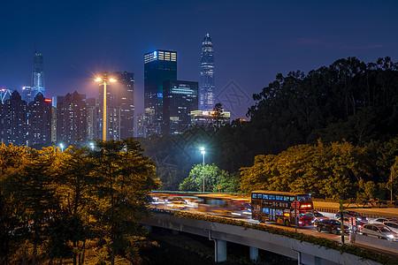 夜景深圳公交车图片