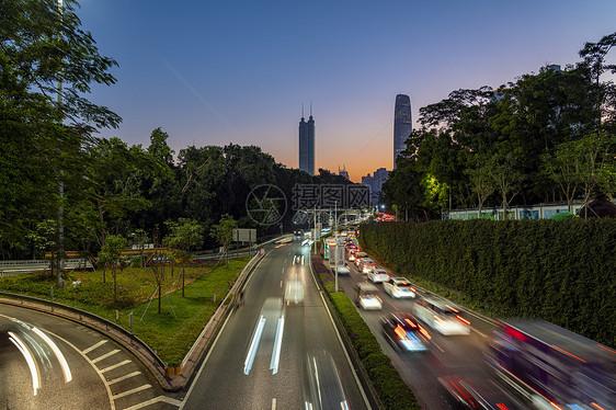 夜景深圳城市交通图片