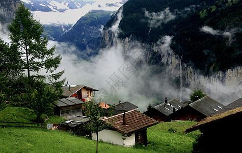 瑞士格林德瓦阿尔卑斯山少女峰图片