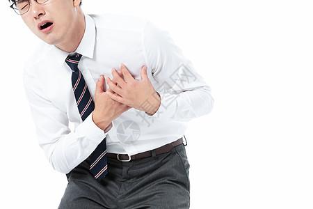 商务男性心脏疼痛图片