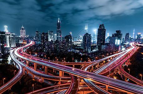 上海延安路立交桥城市夜景图片