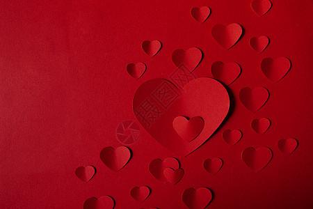 情人节红色爱心图片